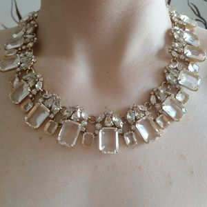 Cluster drop stone necklace